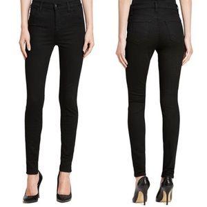 J Brand Maria black high rise skinny jeans